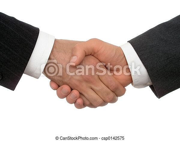 handslag, affär - csp0142575