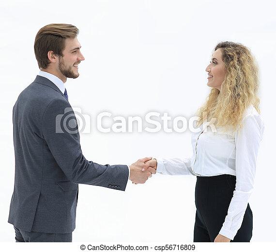 handslag, klient, chef, bakgrund, suddig - csp56716809