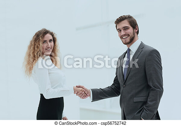handslag, klient, chef, bakgrund, suddig - csp56752742