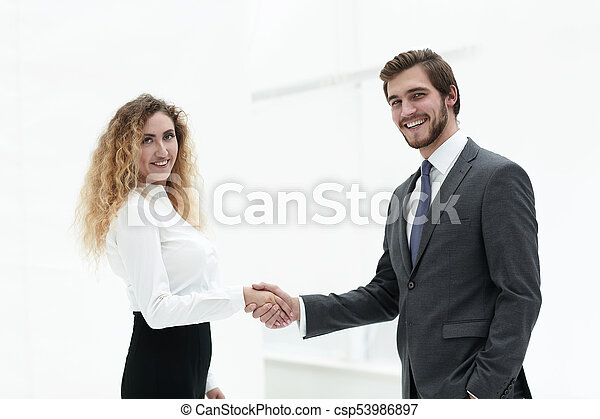 handslag, klient, chef, bakgrund, suddig - csp53986897