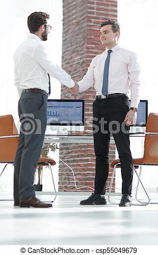 handslag, välkommen, chef, klient - csp55049679