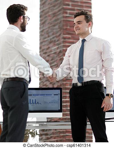 handslag, välkommen, chef, klient - csp61401314