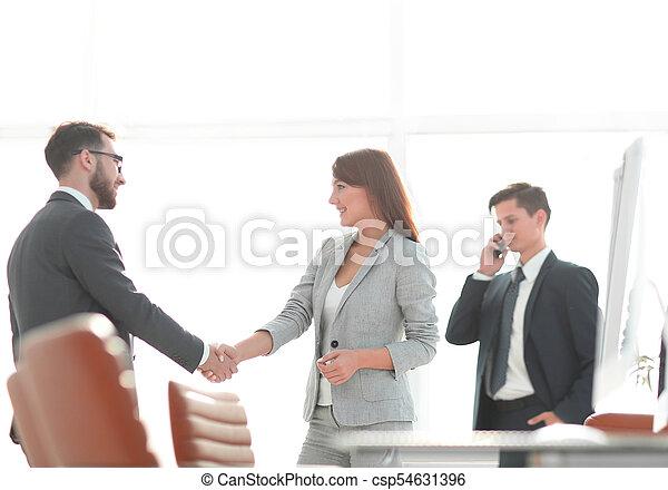 handslag, välkommen, chef, klient - csp54631396