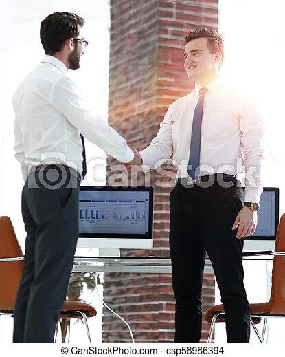 handslag, välkommen, chef, klient - csp58986394