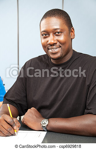 Handsome African American College Student - csp6929818