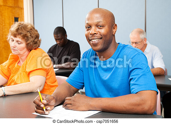 Handsome African-American College Student - csp7051656
