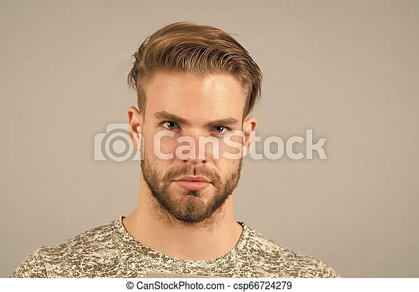Handsome And Confident Man Beard Unshaven Well Groomed Looks Handsome And Cool Guy Bearded Attractive Cares About Canstock