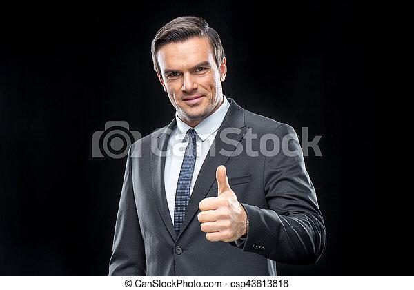 Handsome businessman in suit - csp43613818
