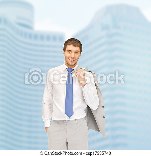 handsome businessman in suit - csp17335740
