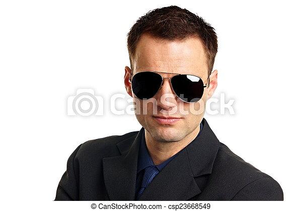 Handsome businessman in suit - csp23668549