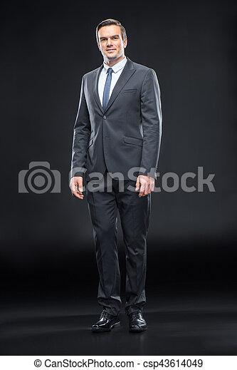 Handsome businessman in suit - csp43614049