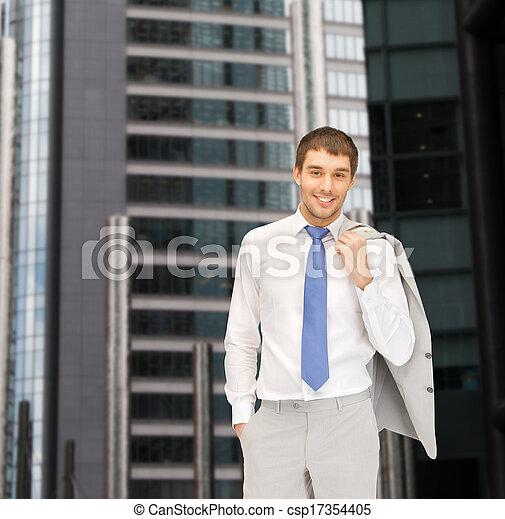handsome businessman in suit - csp17354405