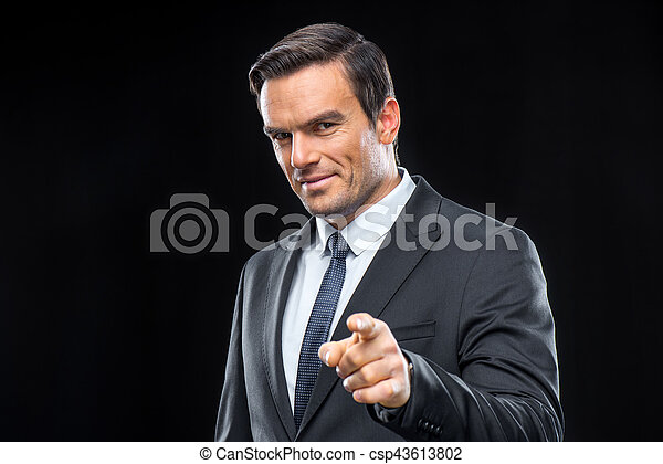 Handsome businessman in suit - csp43613802