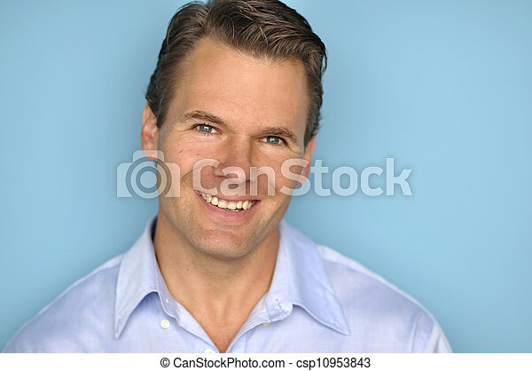 Handsome Caucasian man - csp10953843