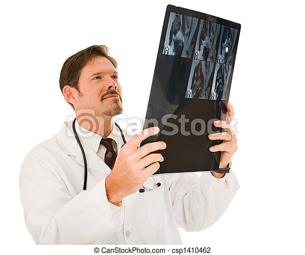 Handsome Doctor with MRI - csp1410462