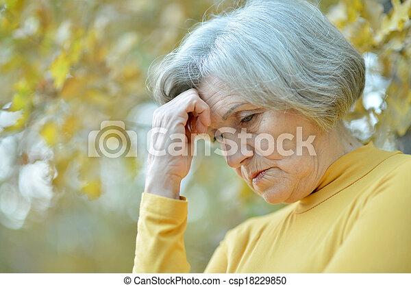 Handsome elderly woman - csp18229850