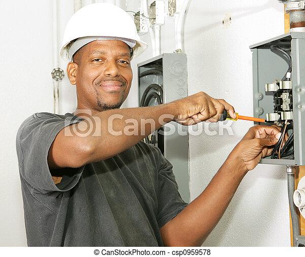 Handsome Electrician - csp0959578