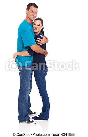 handsome husband hugging his wife - csp14341955