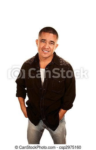 Handsome Latino Man - csp2975160