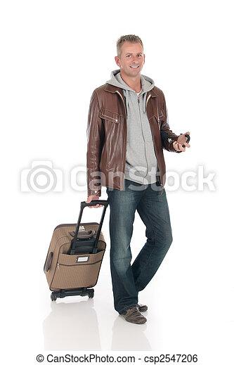 Handsome man, commuter - csp2547206