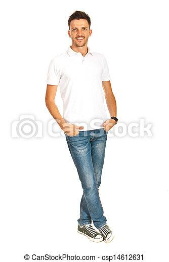 Handsome man in white t-shirt - csp14612631