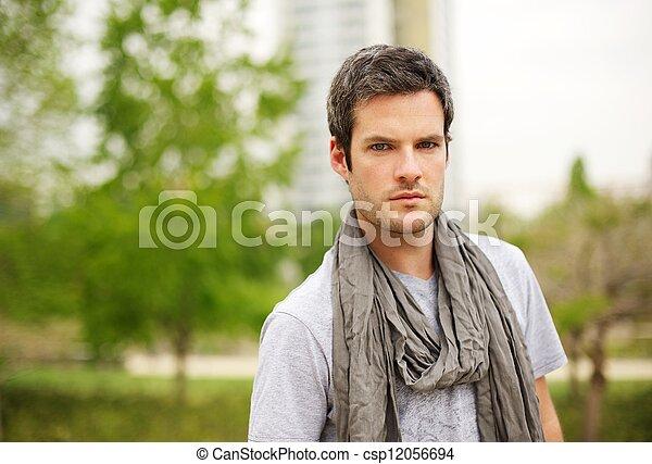 Handsome man outdoors - csp12056694