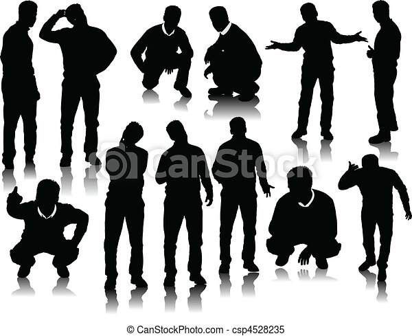 Handsome men silhouettes - csp4528235