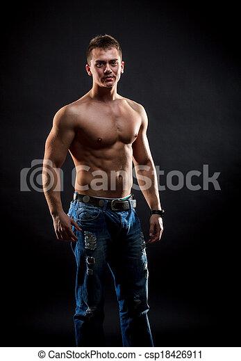 Handsome muscular man - csp18426911