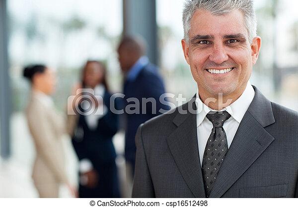 handsome senior businessman - csp16512498