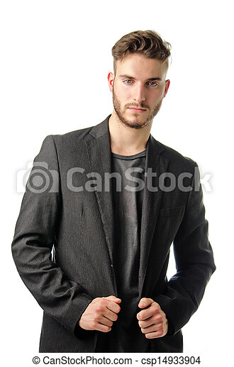 Handsome young businessman in suit - csp14933904