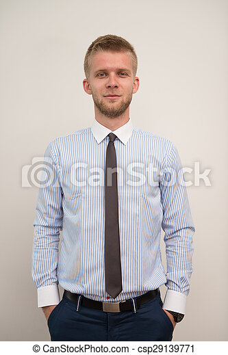 Handsome Young Businessman Portrait In His Office - csp29139771