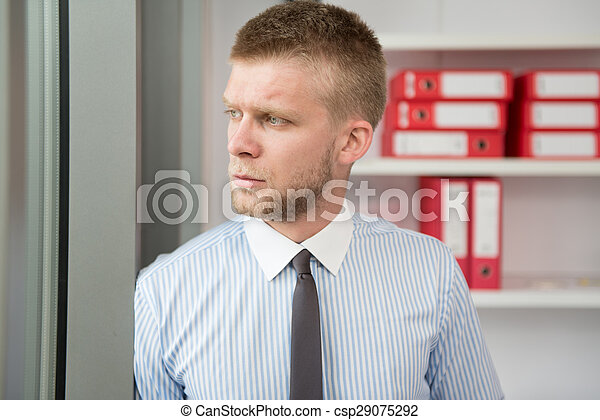 Handsome Young Businessman Portrait In His Office - csp29075292