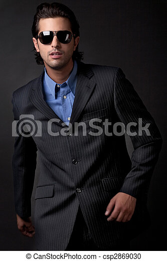 handsome young fashion model - csp2869030
