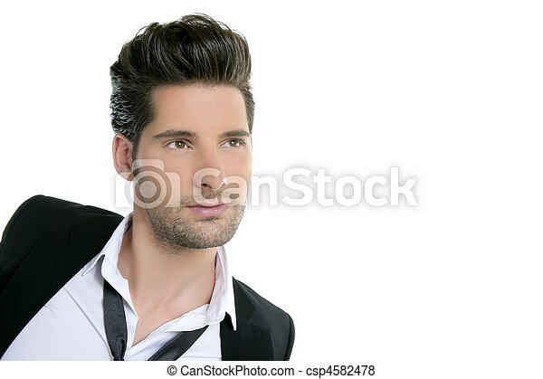 Handsome young man suit casual tie suit - csp4582478