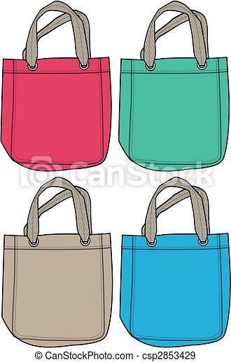 handväska, mode, illustration - csp2853429