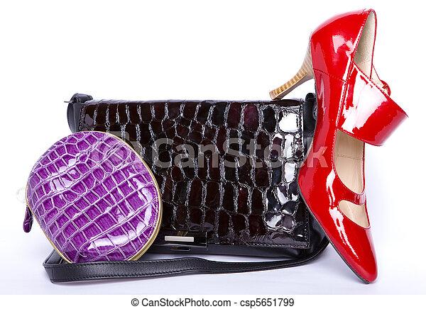handväska, portmonnä, skor - csp5651799