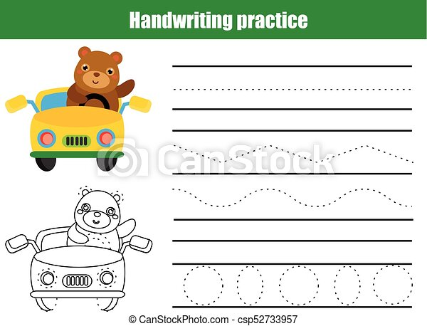 Handwriting Practice Clip Art Worksheets for all   Download and ...