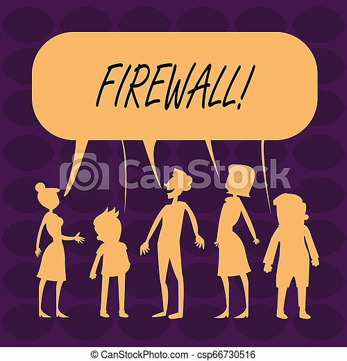 Handwriting text Firewall. Concept meaning Malware protection prevents internet frauds. - csp66730516