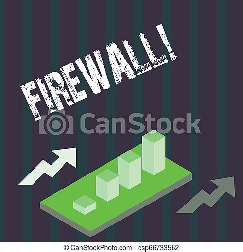 Handwriting text Firewall. Concept meaning Malware protection prevents internet frauds. - csp66733562