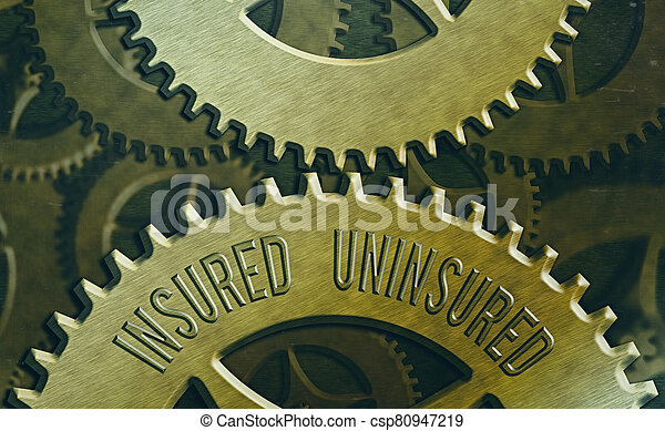 Handwriting text Insured Uninsured. Concept meaning Company selling insurance Checklist to choose from. - csp80947219
