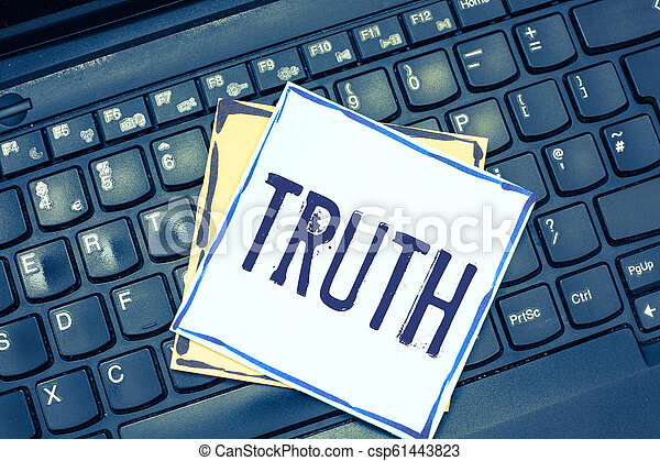Handwriting text writing Truth  Concept meaning the quality or state being  true opposite of lying Telling facts