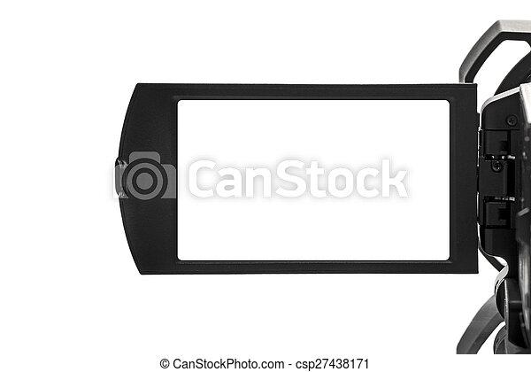 handycam, espace, vide, exposer, vidéo, camcorder numérique - csp27438171