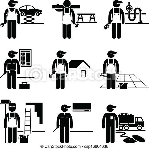 handyman, 巧み, 仕事, 職業 - csp16804636