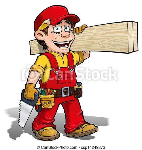 handyman, -, carpinteiro, vermelho - csp14249373
