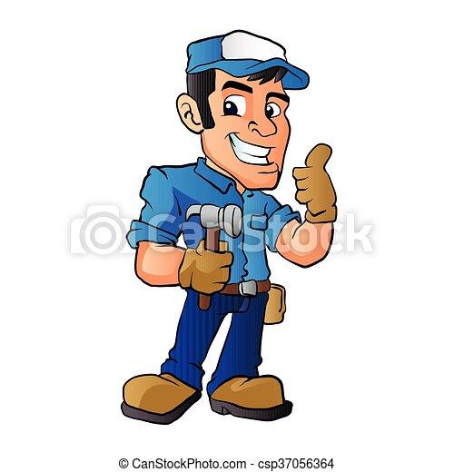 handyman hammer handyman holding a hammer vector clip art vector rh canstockphoto ca handyman clip art free handyman clip art images