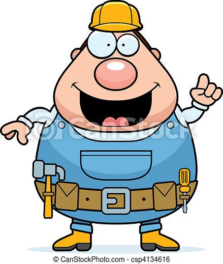 handyman idea a happy cartoon handyman with an idea rh canstockphoto com handyman clip art graphics handyman clip art images
