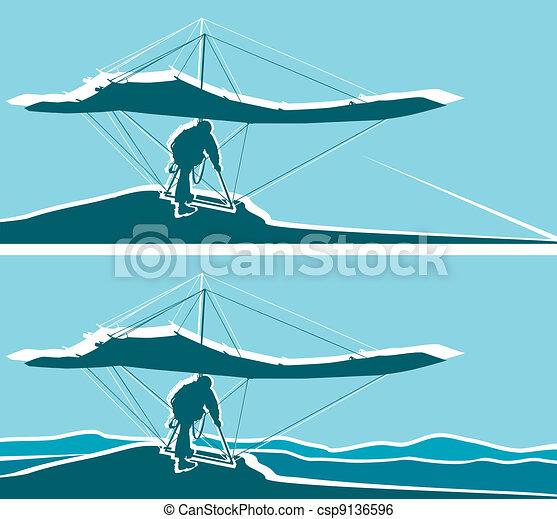 Hang glider   - csp9136596