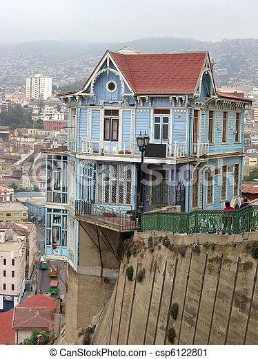 hanghaus hang haus valparaiso chile famouse stockfoto grundriss