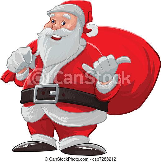 hang loose santa claus - csp7288212