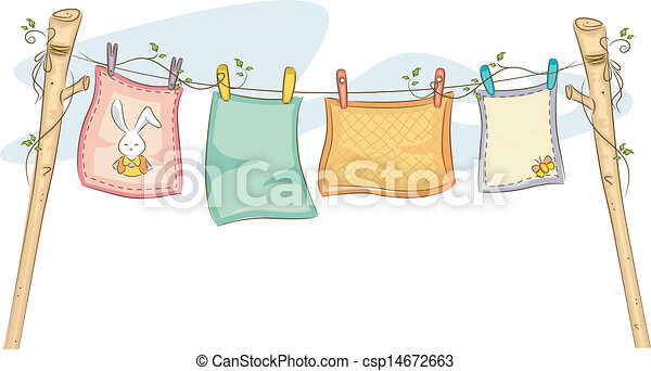 Hanging Baby Blankets - csp14672663